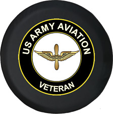 Spare Tire Cover US Army Aviation Veteran Golden Wings JK Accessories