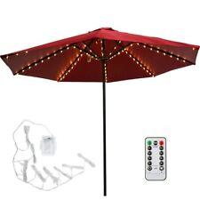 More details for 104 led fairy string lights for umbrella patio parasol outdoor garden christmas