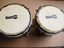 Bongo Drum Set RockJam Handtrommel mit Gigbag Natur  - A43