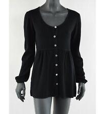 GUDRUN SJODEN - Damen Cardigan Black Sweater Lambswool Größe: M