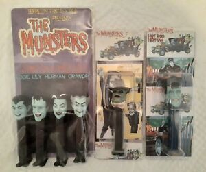 The Munsters Custom PEZ Collection Hot Rod Herman Uncle Gilbert Creature
