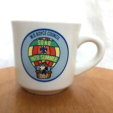 Snoopy Hot Air Ballon Boy Scouts W.E. Boyce The Kiln Busy Bee Akron Ohio Cup Mug