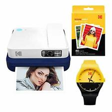 KODAK Smile Classic Digital Instant Camera with Bluetooth (Blue) Watch Bundle
