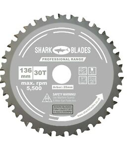 Circular saw Blade Thin Kerf 136mm x 20 x 30T For Cordless Saws, For Metal Cuts