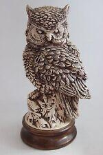 Vintage Hand Made Signed Ceramic Owl Sculpture Highly Detailed