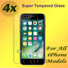 4X Tempered Glass Screen Protector Film For Apple iPhone 5S 5C SE 6 6S 7 7 Plus