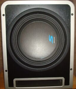 "Alpine S-SB10V Loaded 10"" 600w S-W10D4 Subwoofer+Ported Sub Enclosure Box"