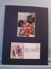 "Norman Rockwell - ""The Bridge Game"" & First Day Cover of King & Queen of hearts"