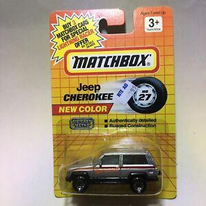 1991 MATCHBOX SUPERFAST MB27 JEEP CHEROKEE QUADTRAK SPORT NEW ON CARD