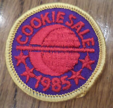 Vintage Girl Scout Uniform Patch Gs  Cookie Sale 1985