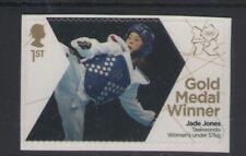 GB JADE JONES GOLD MEDAL WINNER LONDON 2012 ROYAL MAIL MINT STAMP FREE UK P&P