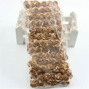 Small Artificial Paper Roses Houseplant Party Supply Silk Material False Flowers