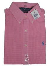 Polo Ralph Lauren Mens Gingham Custom Fit Button Long Sleeve Pony Logo Shirt New