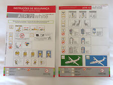 White Airways ATR 72-600 Safety Card NEW style TAP Portugal Airlines