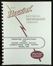 Hickok 700 Dynamic Mutual Conductance Tube Tester Manual