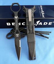 Benchmade 178SBK SOCP Combo Edge Dagger Knife 440C USA Black Sheath