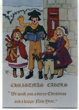"Royal Mail Children ""We wish you a merry Christmas"" postcard Rosalind Wicks 1991"
