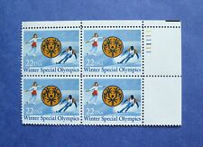 Sc # 2142  ~ PL # BLK ~ 22 ct WINTER SPECIAL OLYMPICS ISSUE (cd25)