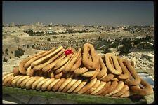 122051 Bagel Cart Atop Mount Of Olives Overlooking Old Jerusalem A4 Photo Print