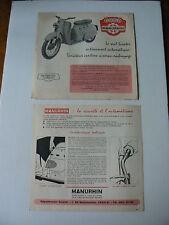 prospectus scooter MANURHIN - Annėes 50