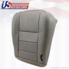 2002 ... 2007 Ford F-350 Lariat Super Duty Driver Bottom Leather Seat Cover Gray