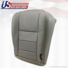 2002 To 2007 Ford F-250 Lariat Super Duty Driver Bottom Leather Seat Cover Gray