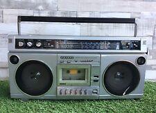 Sanyo M-X315L Portable Stereo Radio Cassette Recorder Boombox Ghetto Blast 1980s