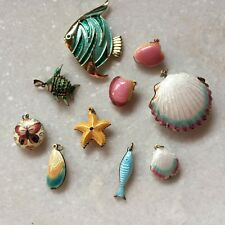 VTG Lo/10 Pcs. Jewelry and Charms Enamel