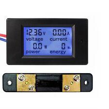 LCD Voltage Current 50A DC 100V Volt Amp Power Meter 12V 24V 48V Battery Solar