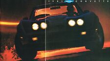 1981 Chevrolet CORVETTE Brochure/Catalog, ORIGINAL!