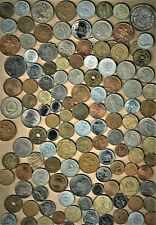 World Coin 'Giant 1 Lb.) lot of well mixed world coins (w/ 3 silver coins)