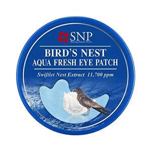 [SNP] Bird's Nest Aqua Eye Patch  60pcs / Korea Cosmetics