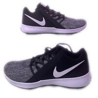 Men's Nike Size 12.5W Varsity Compete Trainer Shoes Black White 15 Wide Crossfit