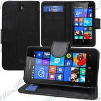 Housse Etui Portefeuille Support Video NOIR Microsoft Nokia Lumia 430 Dual SIM