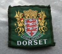 Vintage Dorset cloth scouts badge, 2 x 2 inches.