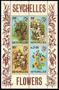 SEYCHELLES 283a - Indigenous Flowers Souvenir Sheet (pb25920)