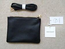 New Amelie Galanti Black Convertible Zip Crossbody Shoulder Bag Purse Clutch Nwt