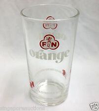 VINTAGE 1980s F&N (FRASER & NEAVE) ORANGE DRINKING GLASS