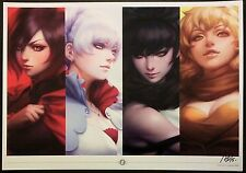 ARTGERM RWBY REMNANT ROOSTER TEETH NYCC ART PRINT - SIGNED A3