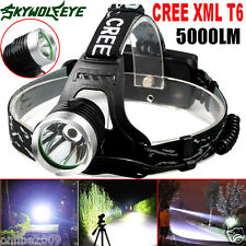 5000Lm CREE XML T6 LED Rechargeable Headlamp Headlight Zoomable Head Light US