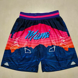 HOT sale Miami Heat Men's with Pockets Basketball Shorts Size: S-XXL