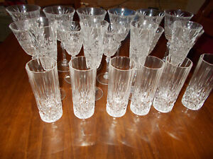 Servizio 21 pz di  bicchieri in cristallo Cristal au plomb 24% Francia  vintage