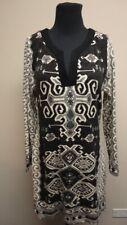 ARYEH Black Long Sleeves Knee Length V Neck Casual Dress NWT Sz L GG5535