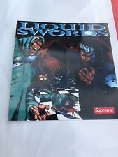 GZA Liquid Swords Supreme Sticker (wu Tang) Very Limited! FW18