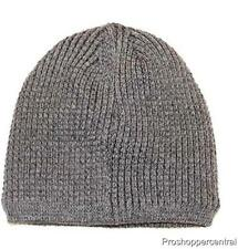 a6adbfa7635 Apt. 9 Men s Heather Gray Waffle Knit Black Sherpa Lined Beanie Hat One Size
