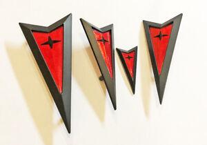 NEW! 06-09 Pontiac Solstice Arrowhead Arrow Emblem Badge Kit 4pcs Set BLACK