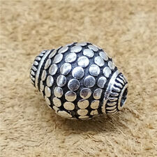 Sterling Silver Olive Oval Beads 925 Silver Bicone Beads for Bracelet