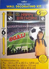5 pcs Giant Football Wall Decorations (6' Tall) 5 Decorations inc Happy Birthday