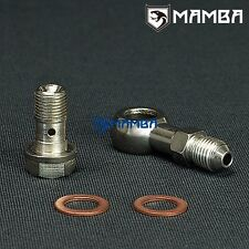 Banjo Bolt Kit 4AN to 7/16-24 Turbo oil Feed For Garrett GT25R 1.0mm Restrictor