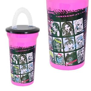 Disney / Character Plastic Drinking Cup with Bendy Straw - Monster High